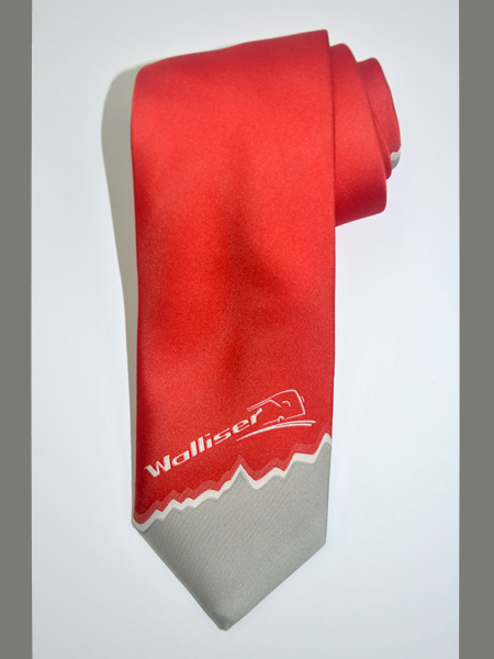 Eigendessin Krawatte - Walliser Reisen